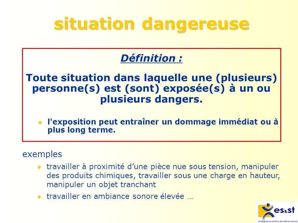 situation dangereuse Définition :
