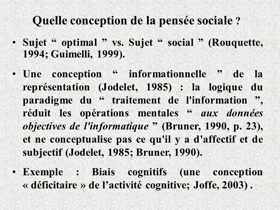 Quelle conception de la pensée sociale