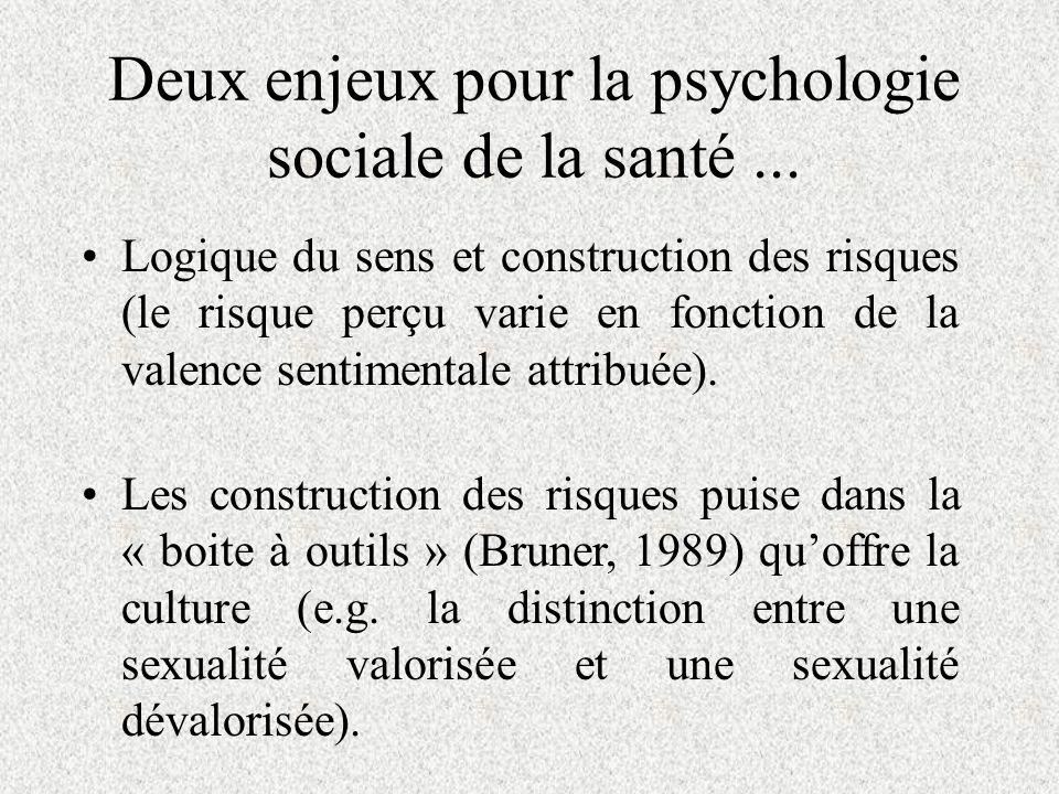 Deux enjeux pour la psychologie sociale de la santé ...