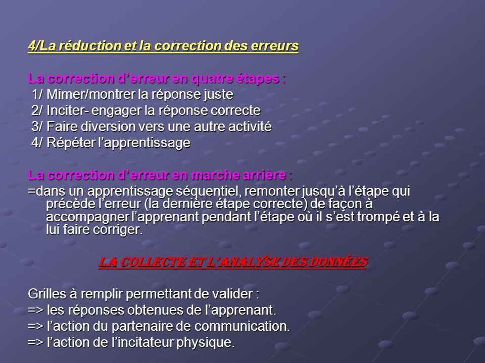 4/La réduction et la correction des erreurs