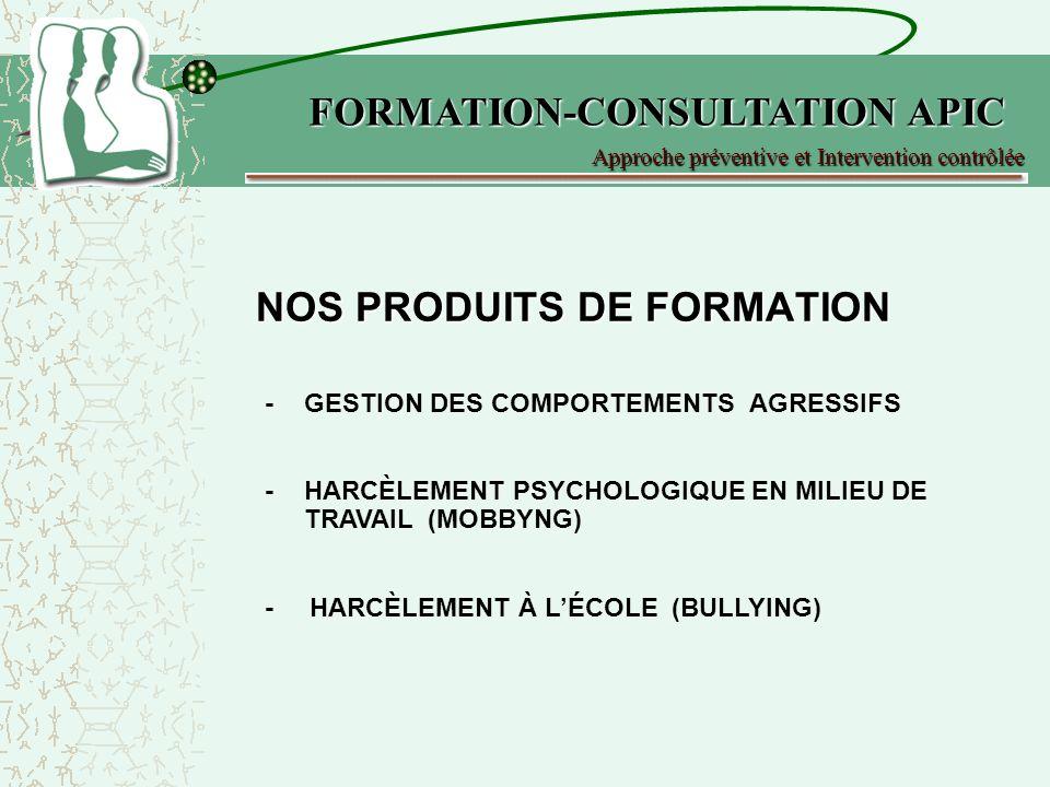 NOS PRODUITS DE FORMATION