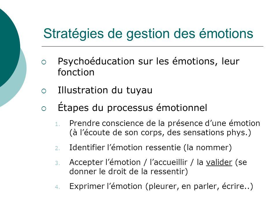 Stratégies de gestion des émotions