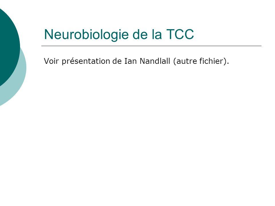 Neurobiologie de la TCC