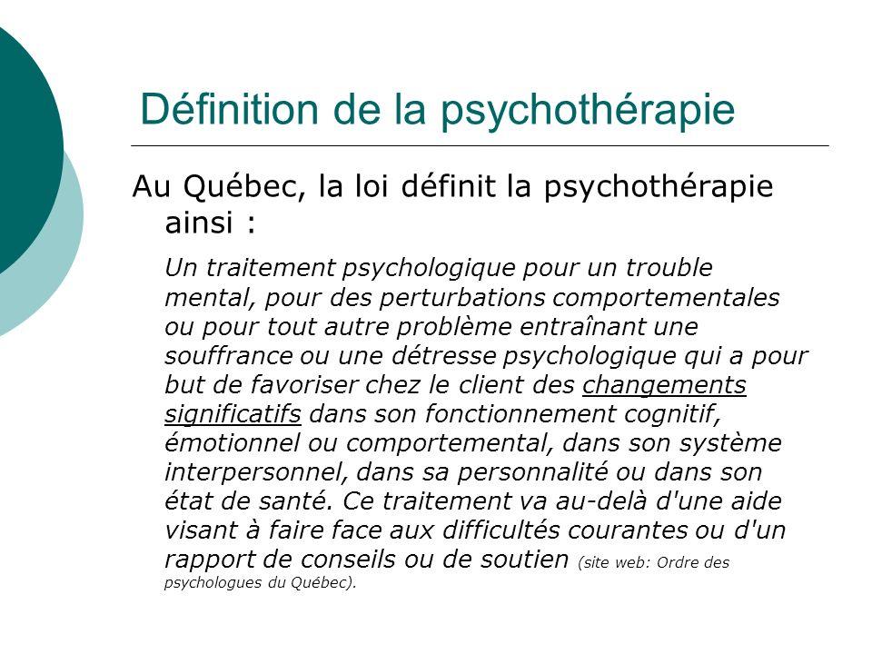 Définition de la psychothérapie