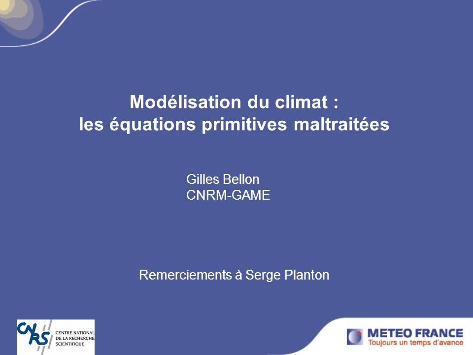 Modélisation du climat : les équations primitives maltraitées