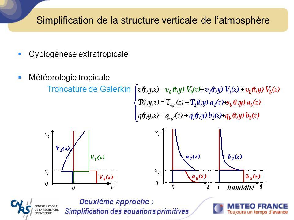 Simplification de la structure verticale de l'atmosphère