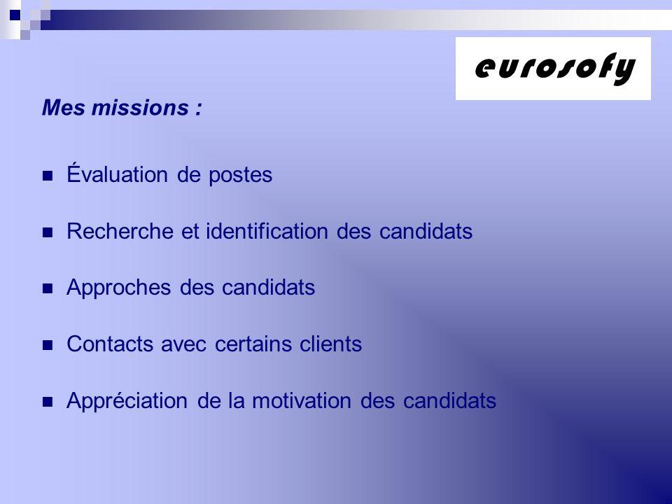 eurosofy Mes missions : Évaluation de postes