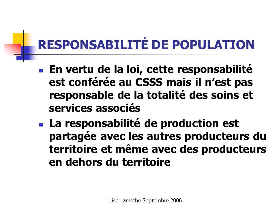 RESPONSABILITÉ DE POPULATION