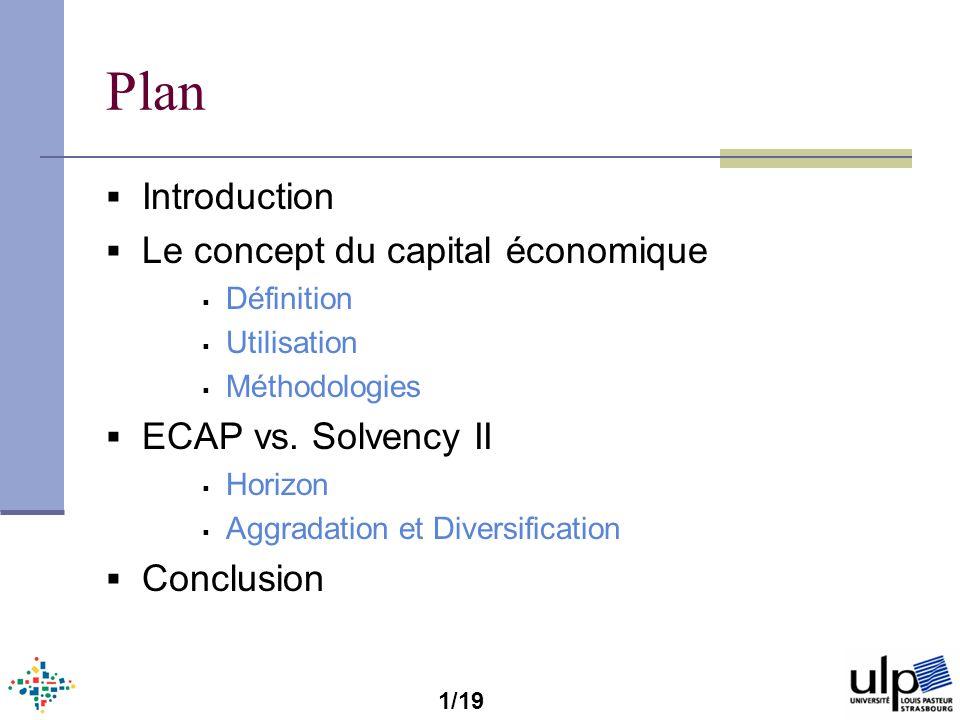 Plan Introduction Le concept du capital économique