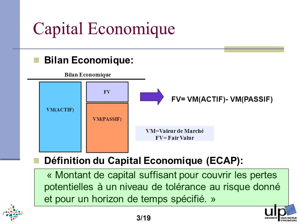 Capital Economique Bilan Economique: