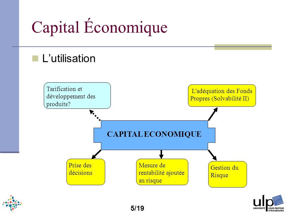 Capital Économique L'utilisation CAPITAL ECONOMIQUE 5/19