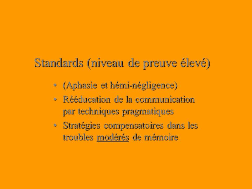 Standards (niveau de preuve élevé)