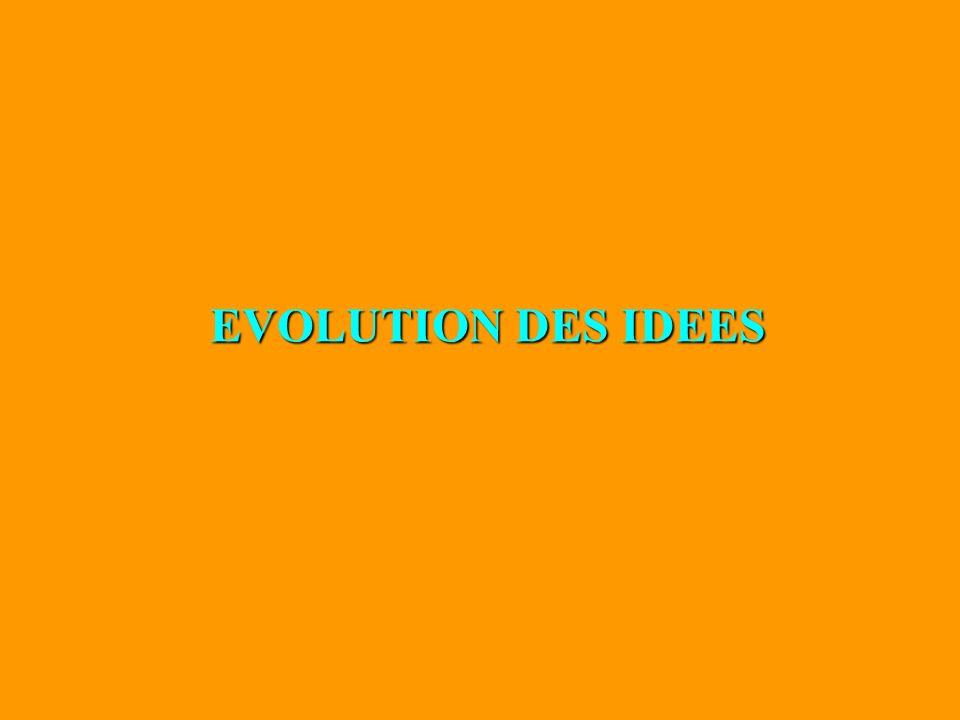 EVOLUTION DES IDEES