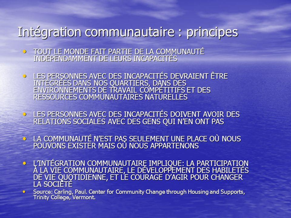 Intégration communautaire : principes
