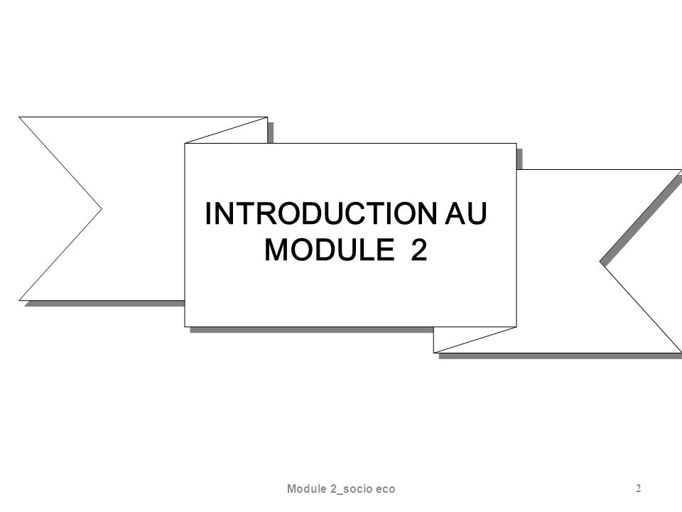 INTRODUCTION AU MODULE 2