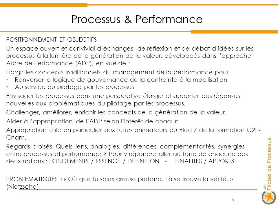 Processus & Performance
