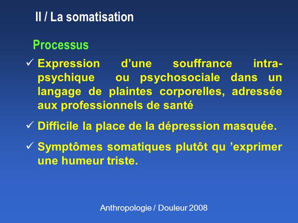 II / La somatisation Processus