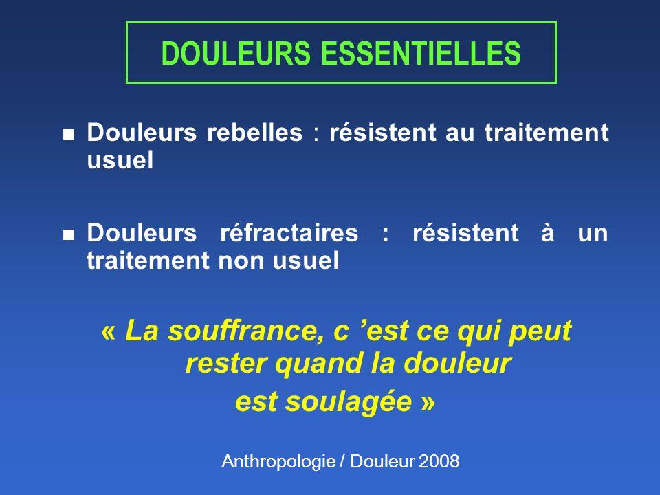 DOULEURS ESSENTIELLES