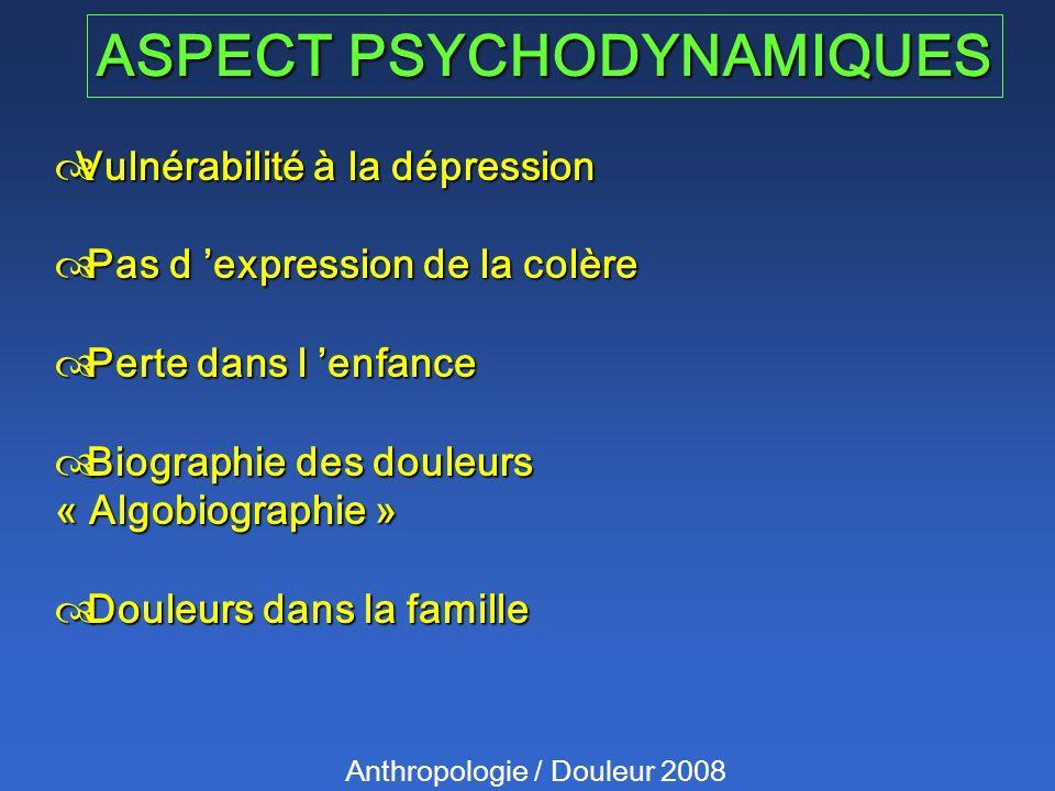 ASPECT PSYCHODYNAMIQUES