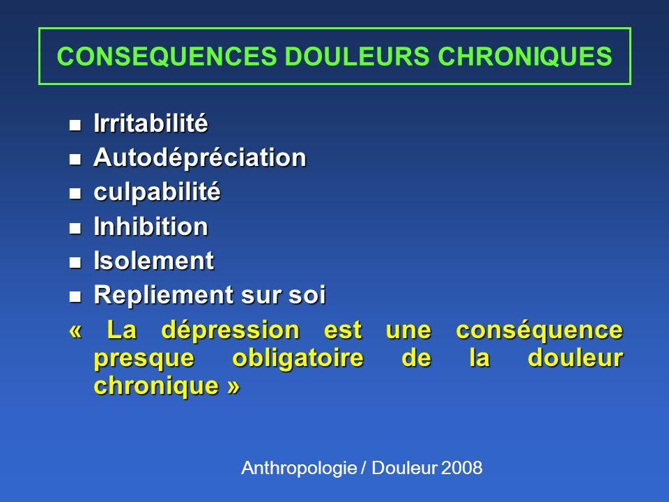 CONSEQUENCES DOULEURS CHRONIQUES