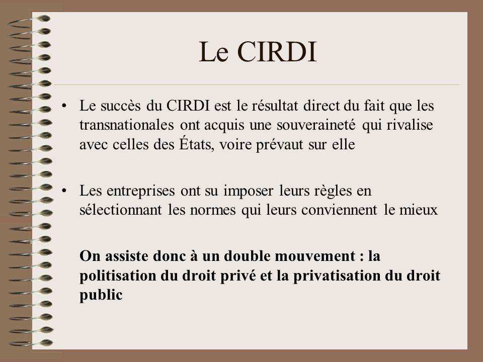 Le CIRDI