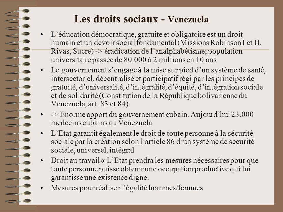 Les droits sociaux - Venezuela