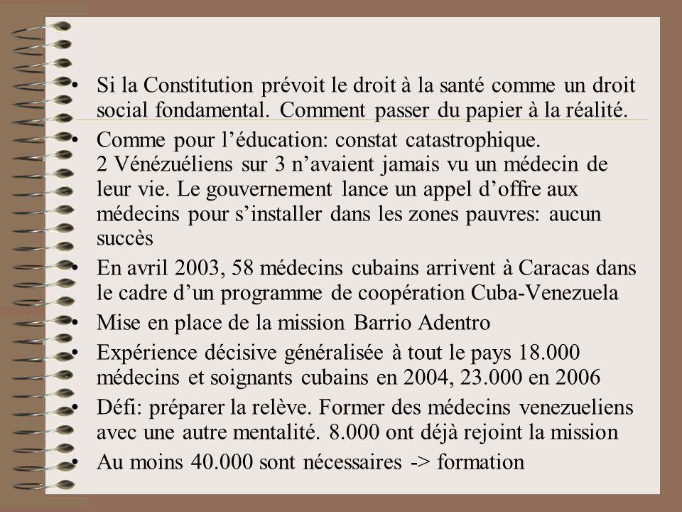 Si la Constitution prévoit le droit à la santé comme un droit social fondamental. Comment passer du papier à la réalité.