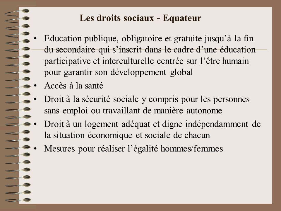 Les droits sociaux - Equateur