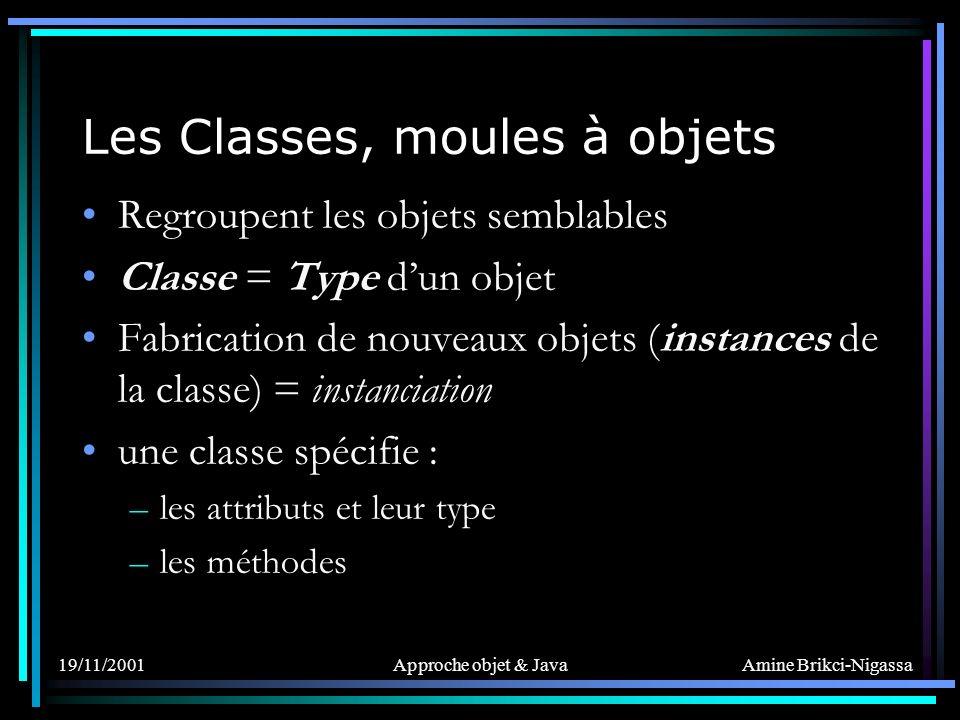 Les Classes, moules à objets