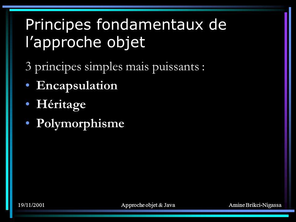 Principes fondamentaux de l'approche objet