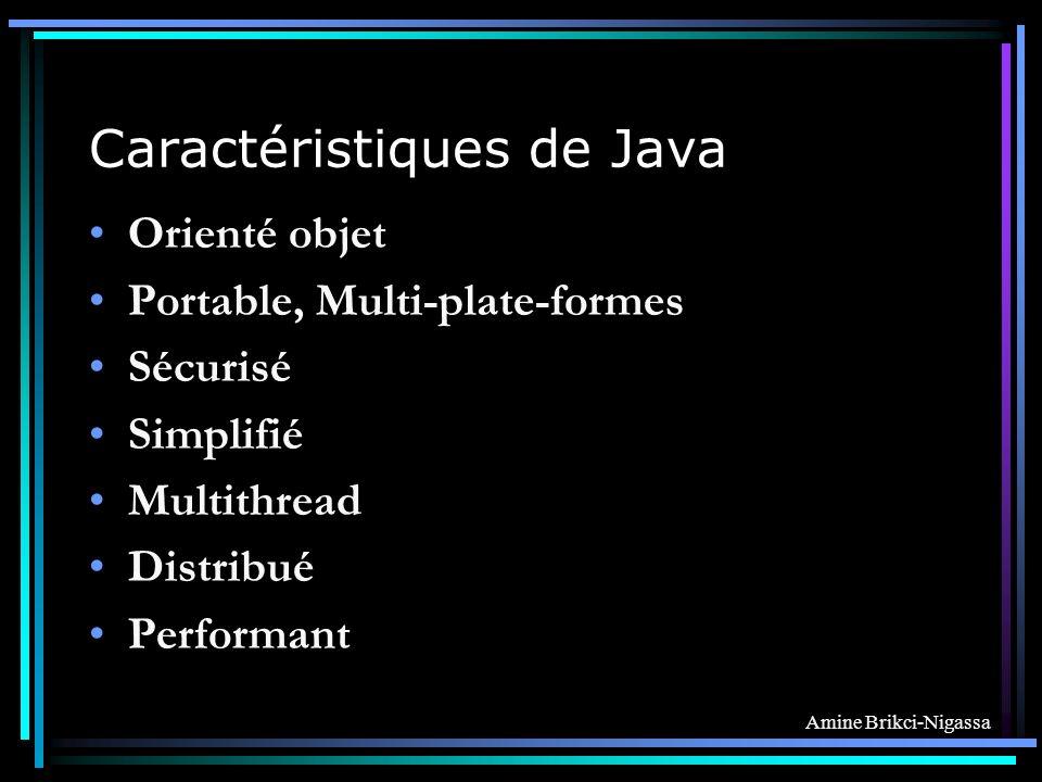 Caractéristiques de Java
