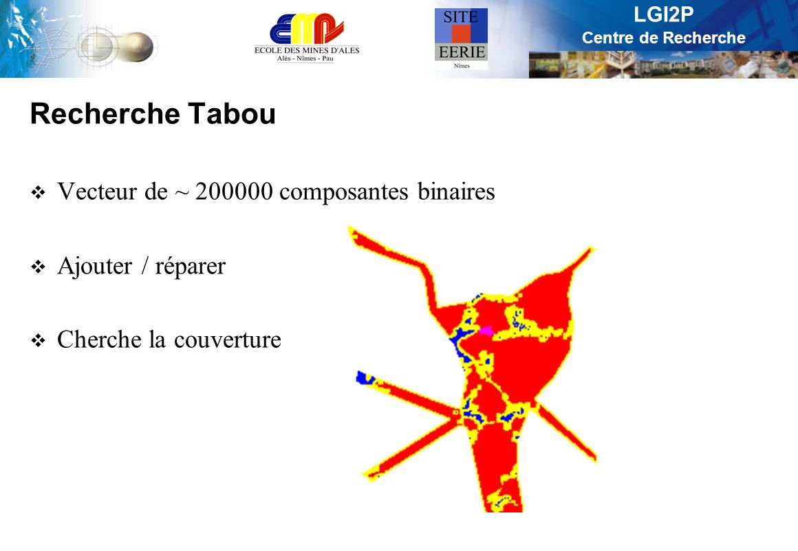 Recherche Tabou Vecteur de ~ 200000 composantes binaires