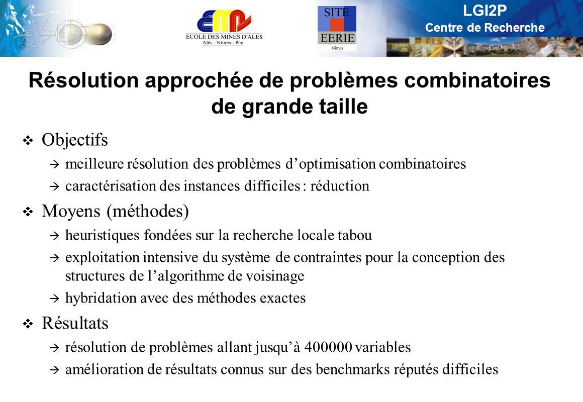 Résolution approchée de problèmes combinatoires de grande taille