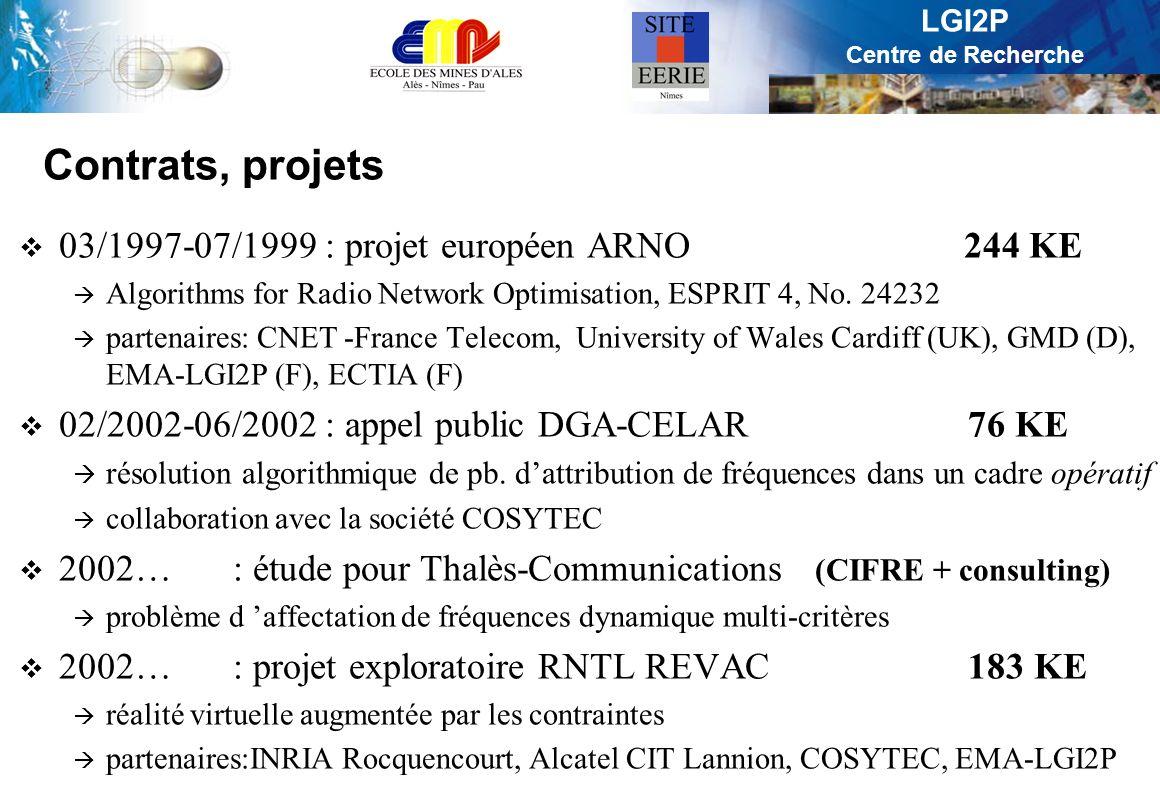 Contrats, projets 03/1997-07/1999 : projet européen ARNO 244 KE