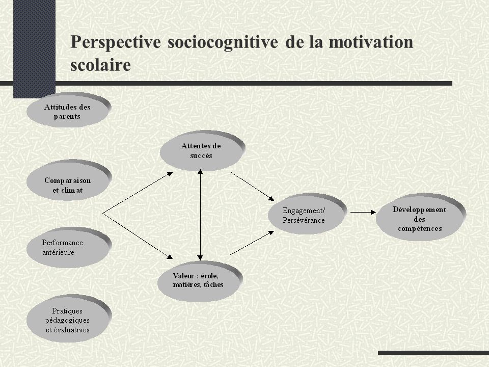 Perspective sociocognitive de la motivation scolaire