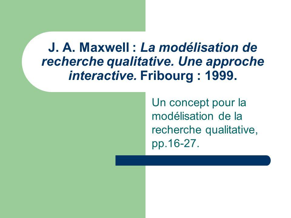 Un concept pour la modélisation de la recherche qualitative, pp.16-27.