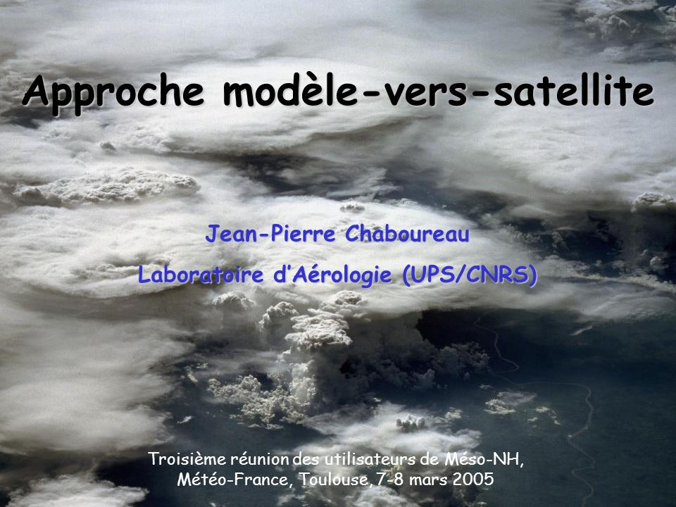 Approche modèle-vers-satellite