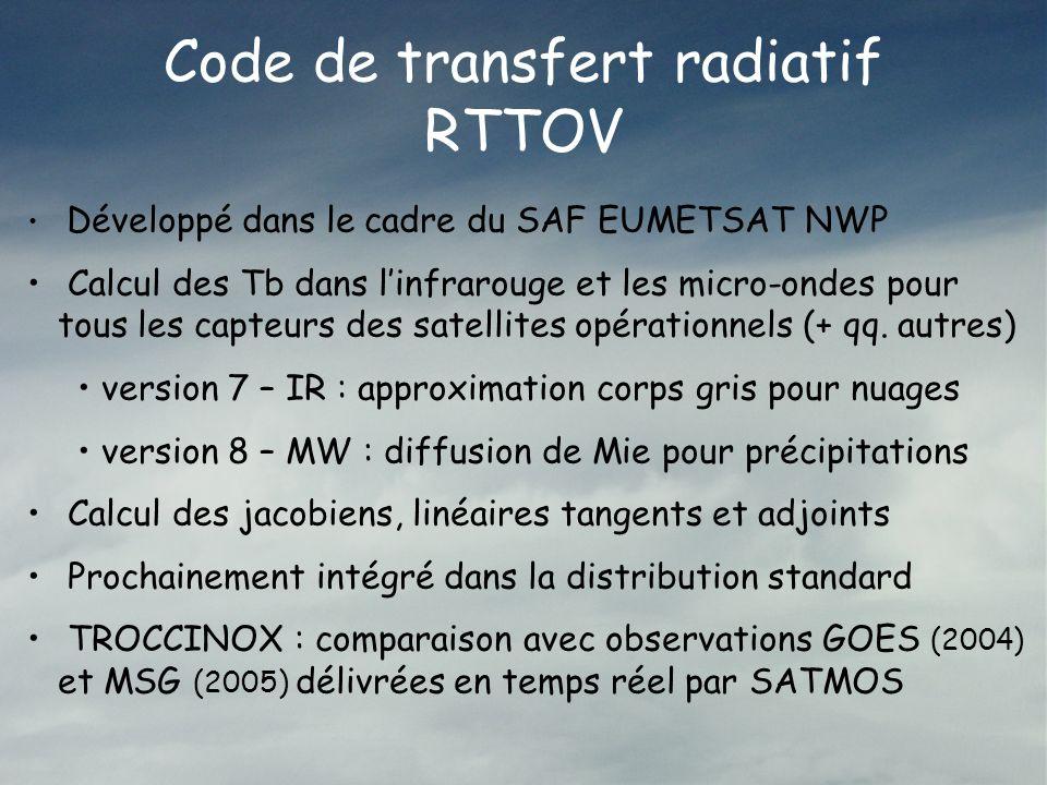 Code de transfert radiatif RTTOV