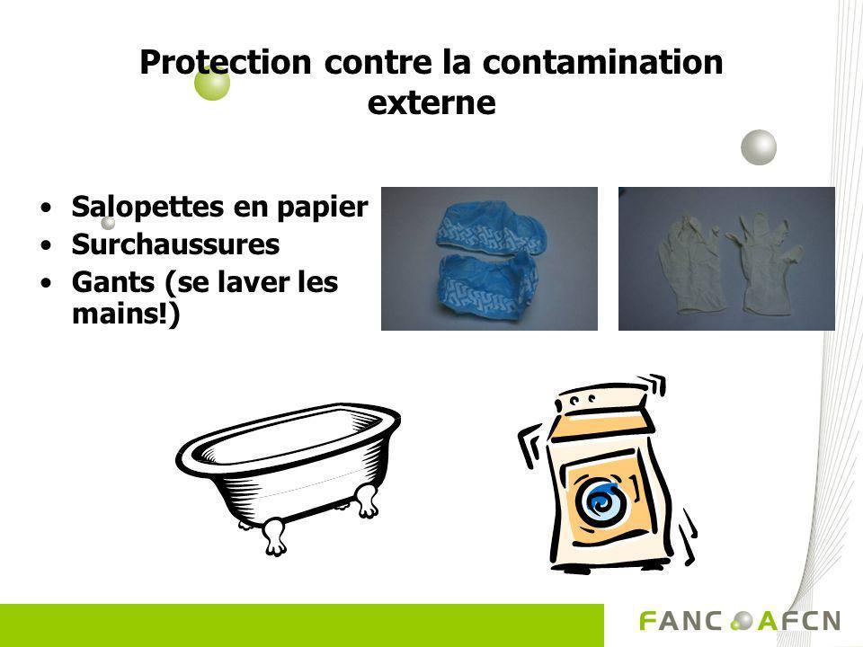 Protection contre la contamination externe