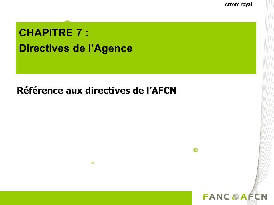 Directives de l'Agence
