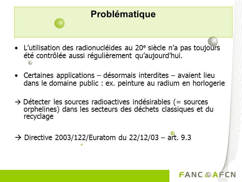 Problématique L'utilisation des radionucléides au 20e siècle n'a pas toujours été contrôlée aussi régulièrement qu'aujourd'hui.