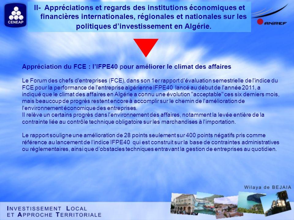 Appréciation du FCE : l'IFPE40 pour améliorer le climat des affaires