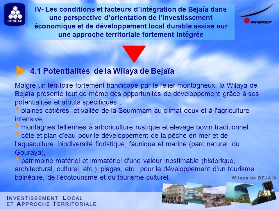 4.1 Potentialités de la Wilaya de Bejaïa