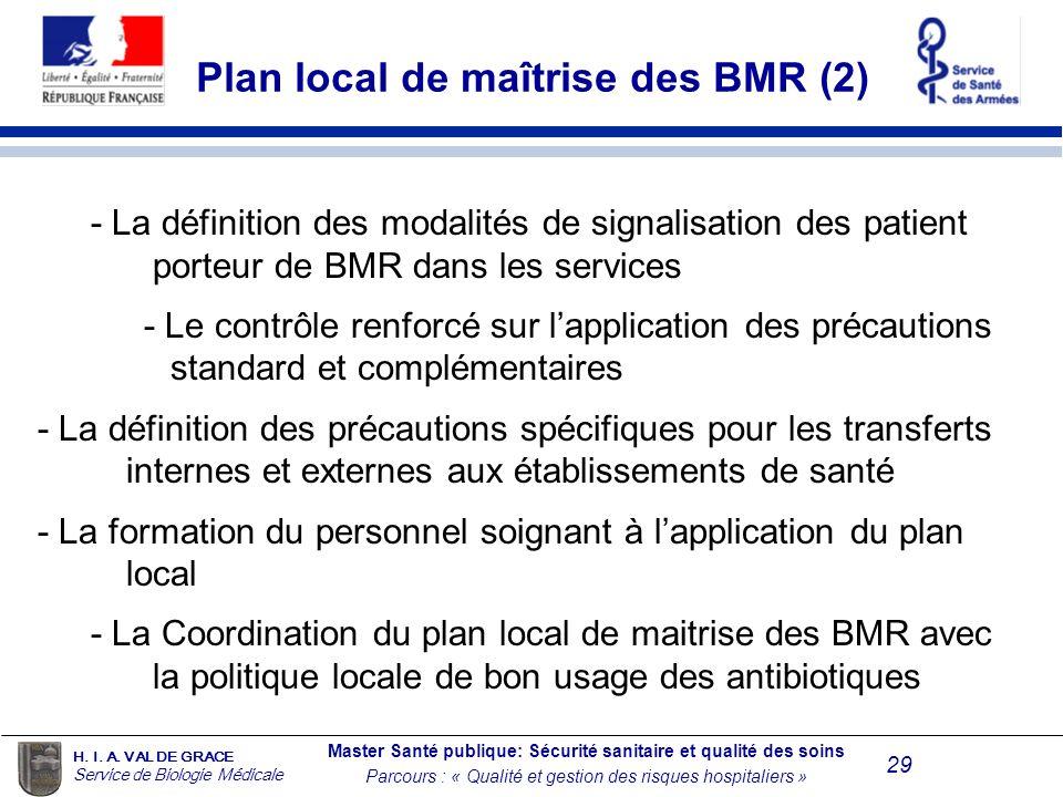Plan local de maîtrise des BMR (2)
