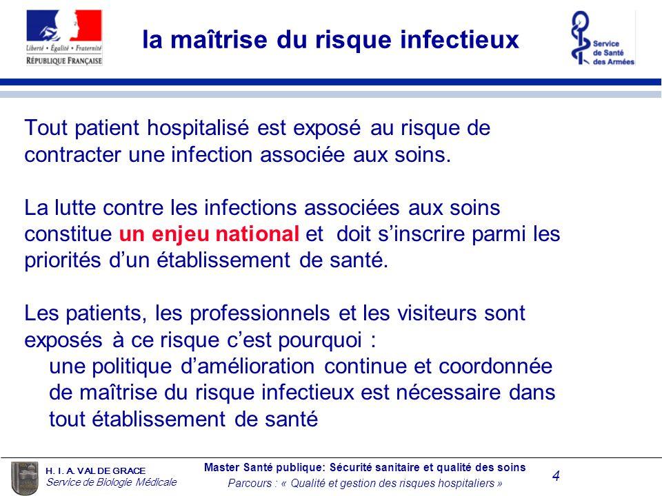 la maîtrise du risque infectieux