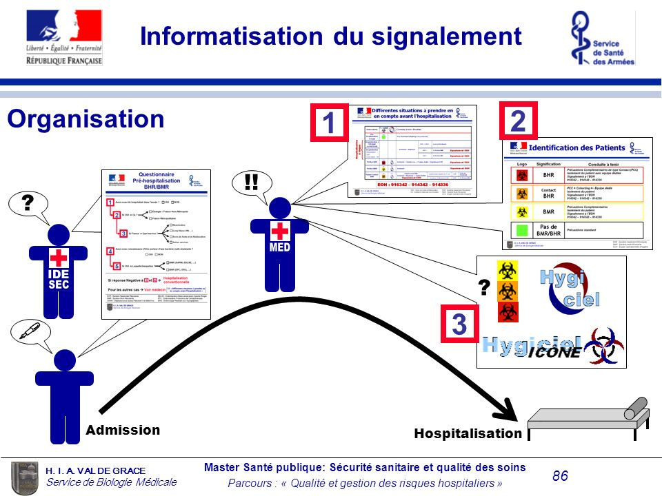 Informatisation du signalement Organisation
