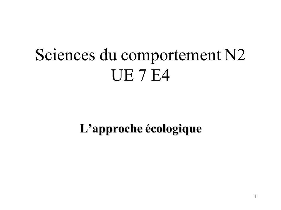 Sciences du comportement N2 UE 7 E4