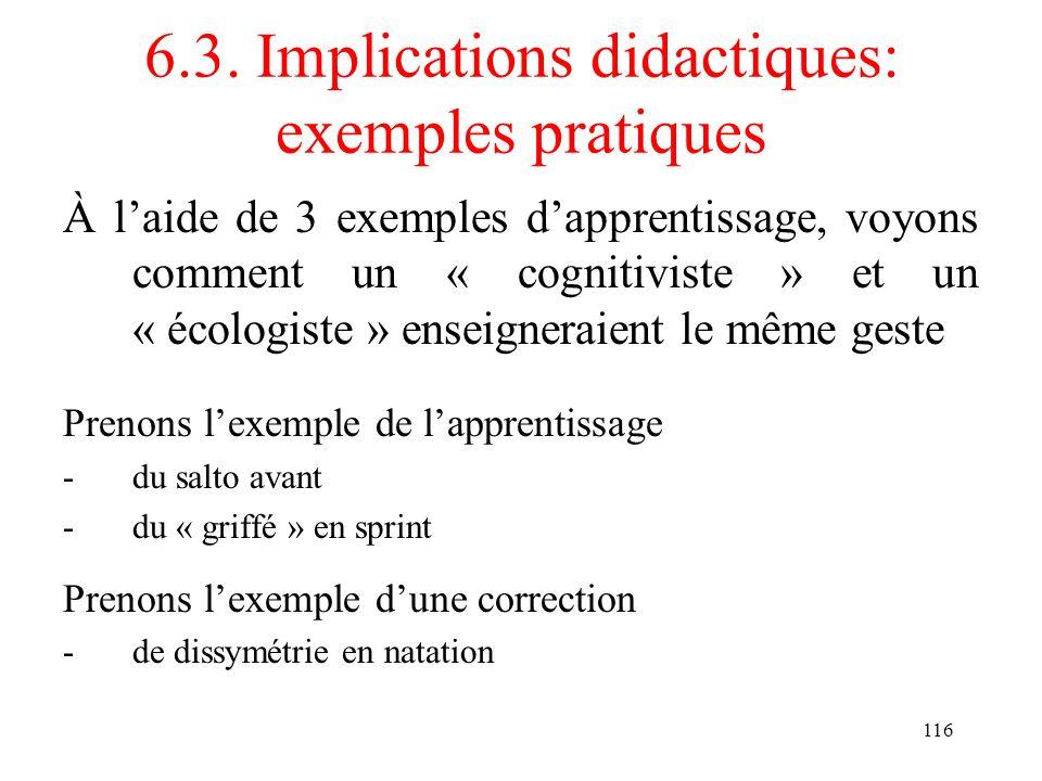 6.3. Implications didactiques: exemples pratiques