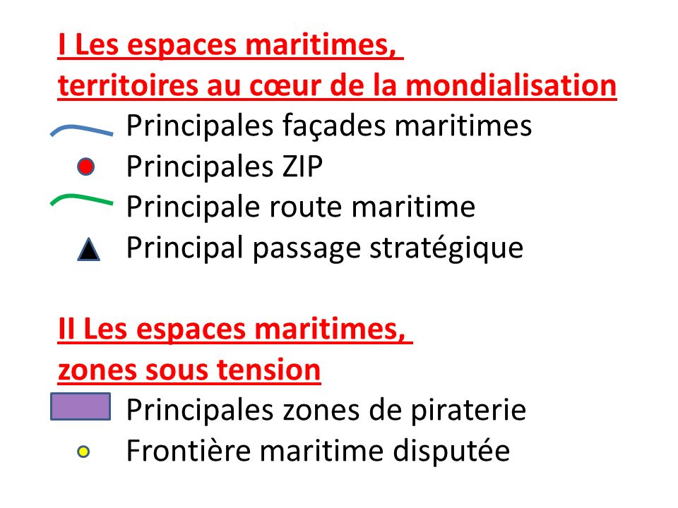 I Les espaces maritimes,