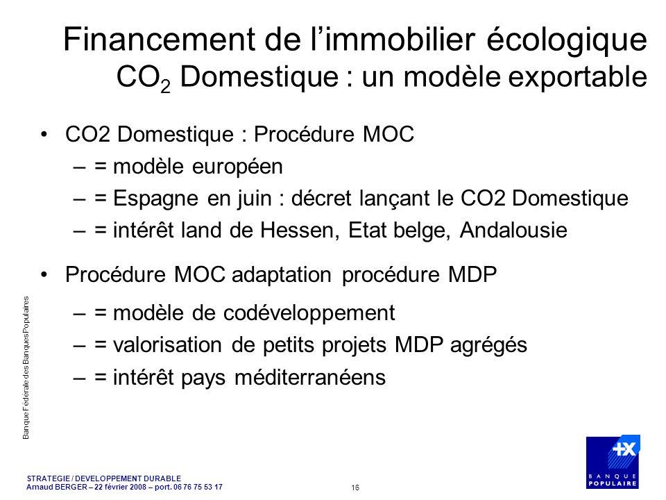 Financement de l'immobilier écologique CO2 Domestique : un modèle exportable